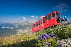 100 Muottas Muragl The Funicular Railway Runs Across The Alpine Meadows
