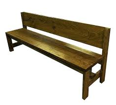 Full Image For Rustic Wooden Bench With Back No Farm