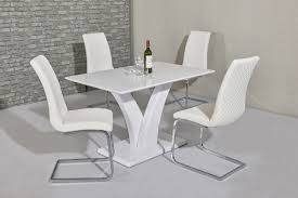100 White Gloss Extending Dining Table And Chairs Harveys Room Whi High Sets Grey Black
