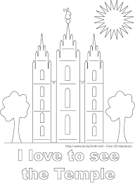 Lds Temple Coloring Pages