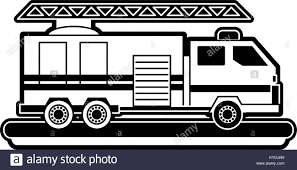 Firetruck Fire Truck Black And White Stock Photos & Images - Alamy