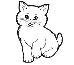 Printable Cat Pictures Cats Coloring Picture Cow Kids Coloring