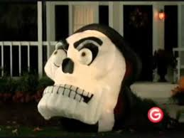 Halloween Airblown Inflatables Uk by Animated Airblown Skull With Moving Eyes And Jaw Inflatable