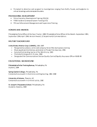 Law Enforcement Resume Examples Sample Resumes