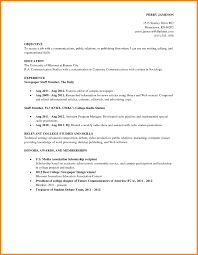 Job Resume Examples For College Students Of Resumes Student
