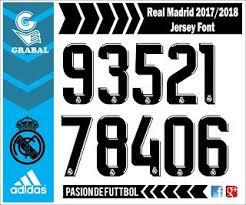 Grabal desing vector Real Madrid 2017 2018 Jersey Font