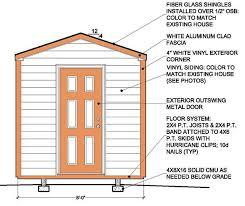 8 8 garden shed building plans blueprints for simple gable shed