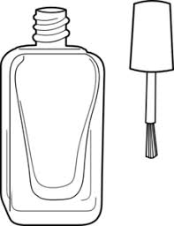 Nail Polish Bottle Black And White Clip Art