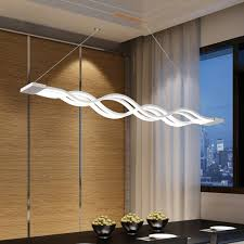Z Modern Creative LED Acrylic Restaurant Ceiling Fan Fashion Design Art Lamp Dining Room Chandelier Bar