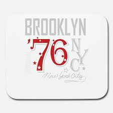 100 New York Pad Brooklyn Jersey City Gift NYC Apparel Mouse Pad Horizontal White
