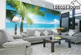 tropical beach view wall paper wall print decal wall deco indoor