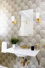 Yellow And Teal Bathroom Decor by Best 25 Bathroom Wallpaper Ideas On Pinterest Half Bathroom