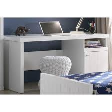 bureau blanc brillant meuble bureau pour chambre enfant blanc 1 porte 1 niche design