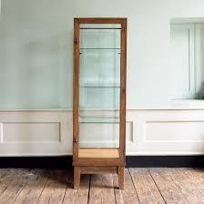 Walnut And Glazed Display Cabinet