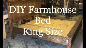 diy how to build a farmhouse king size bed farmhouse platform