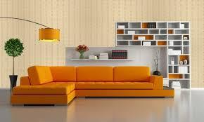 الألوان لغرفة المعيشة باللون البرتقالي 80 أفكار حية