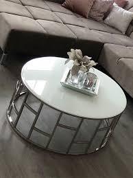 couchtisch rund glastisch weiss edelstahl alegra 1 moebella24