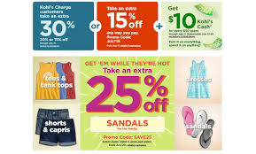 Kohl's: New 25% Off Clothes & Sandals Coupon = Sandals For ...
