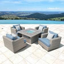 Sirio Patio Furniture Covers by Amazon Com Niko 5 Piece Fire Chat Set In Slate Garden U0026 Outdoor