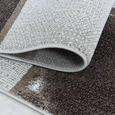 wohnzimmerteppich kurzflor teppich braun grau quadrat muster marmoriert weich
