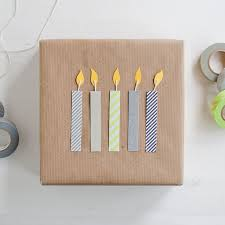 Just About One The Cutest Gift Wrapping I Have Ever Seen DIY Washi Birthday Candles Anastasiamariecards