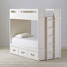 White Glaze Topside Kids Twin Over Twin Bunk Bed