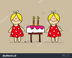 Twins Birthday Clipart