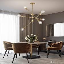 großhandel deckenpendelleuchte le gold droplight post moderne einstellbare lineare linie gold kronleuchter licht le für wohn esszimmer