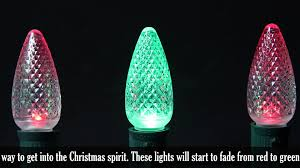 Colored Bulbs For Ceramic Christmas Tree by C9 Led Red To Green Color Change Christmas Bulbs Youtube