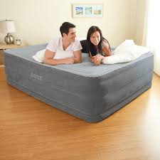 Aerobed Raised Queen With Headboard by Intex Comfort Plush Elevated Dura Beam Airbed Bed Height 22 Inch