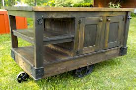 Industrial Kitchen Island Cart Awesome Steampunk Style Hand Made Factory