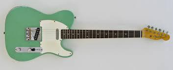 Custom Built 62 Tele Style Relic Surf Green Nitro