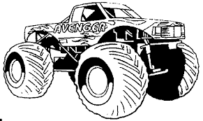 Download Coloring Pages Monster Truck Trucks Bestofcoloring Line Drawings