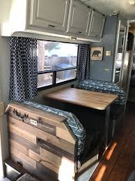 Motorhome Remodel Part 8 Dinette Butcher Block Table Sink Cover
