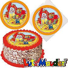 tortenaufleger bagger baustelle für lieblings torten und kuchen lutz mauder 10315 kinder geburtstag kindergeburtstag kinderparty