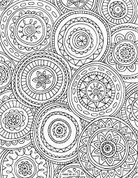 Circled Mandalas Coloring Page