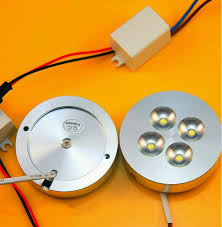 8pcs 12v dc ac220v 4x1w dimmable led cabinet light puck