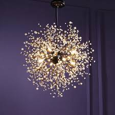 Modern Chandeliers Firework Led Vintage Wrought Iron Chandelier Pendant Lighting Lamp Ceiling Light Fixtures For Dining Room Living