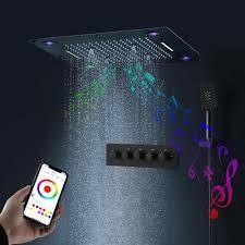 24 zoll bluetooth musik dusche kopf bunte led multi funktion