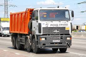 100 Maz Truck MOSCOW RUSSIA JUNE 2 2012 MAZ 6516 Dump At The Interurban
