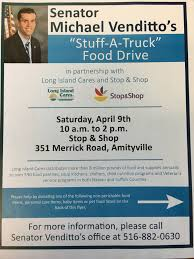 "Senator Venditto's ""Stuff-a-Truck"" Food Drive 