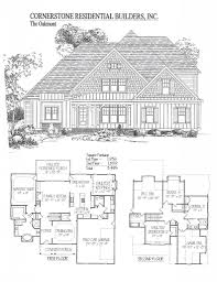 100 Cornerstone House Plans Oakmont Home Floor Plan Apex Cary Holly Springs NC