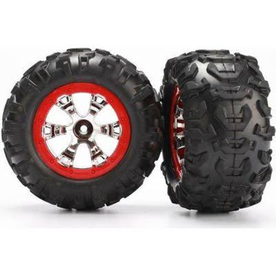 Traxxas Geode Wheel Red & Canyon AT Tires