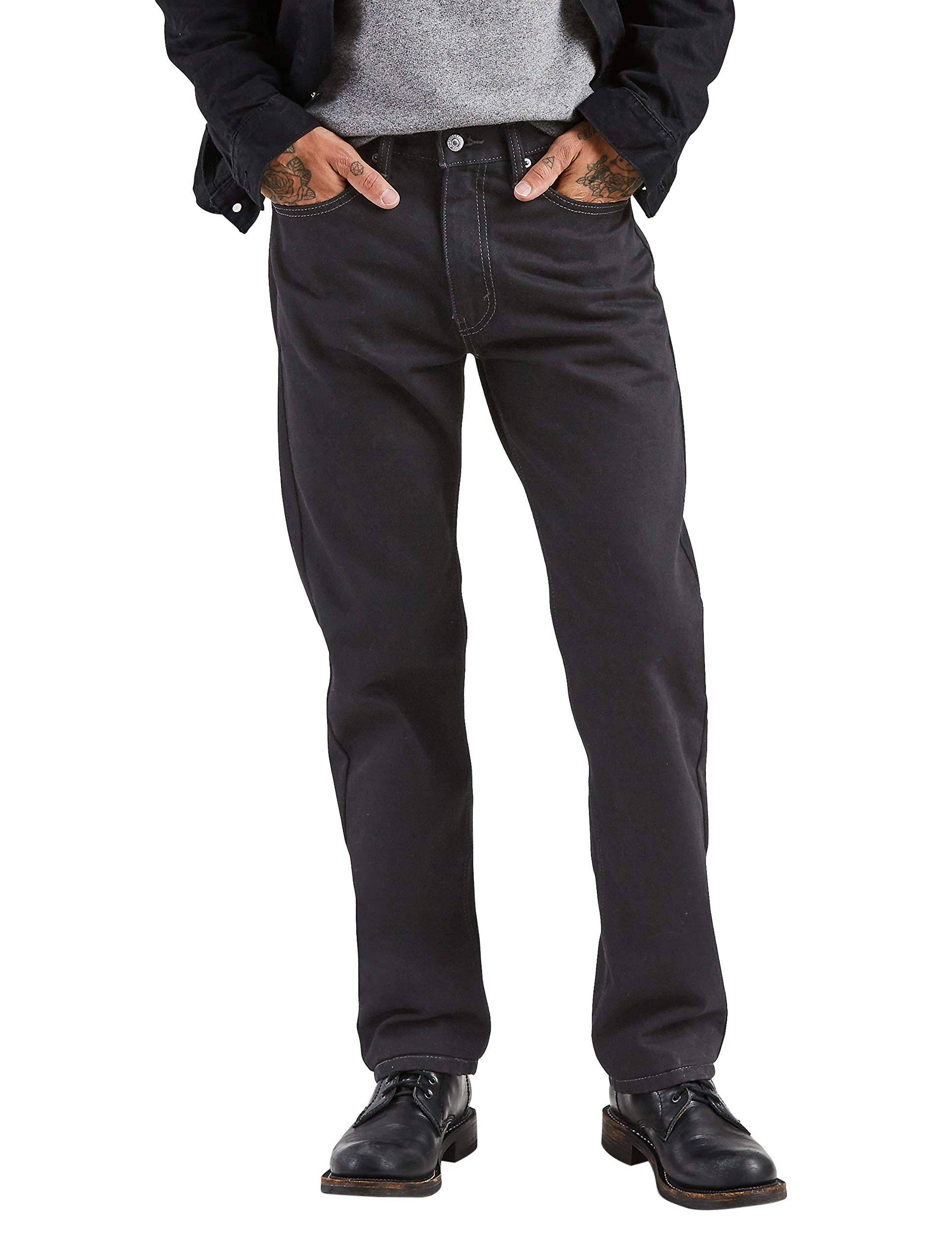 Levi's - Men's 505 Regular Fit Jeans (Black)