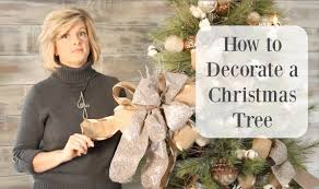 how to decorate a christmas tree with gorgeous ribbon youtube