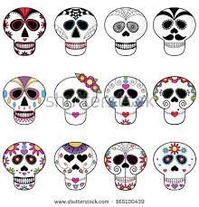 Easy Sugar Skull Day Of by Sugar Skulls Day Dead Candy Skulls Stock Vector 165100439
