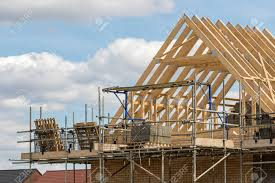 100 House Trusses Construction Industry Timber Framework Of House Roof Trusses
