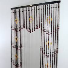 Doorway Beaded Curtains Wood by Beaded Curtain Retro Decorate The House With Beautiful Curtains
