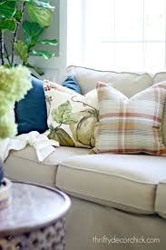 Pottery Barn Throw Pillows by Seasonal Pillows For A Fraction Of The Price From Thrifty Decor
