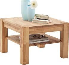 mca furniture couchtisch massivholztisch mit ablage